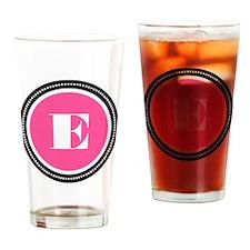 Pink E Monogram Drinking Glass