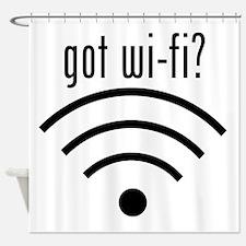 got wi-fi? Shower Curtain