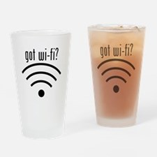 got wi-fi? Drinking Glass