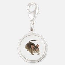 Mouse Silver Round Charm