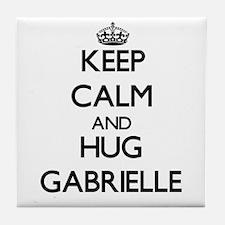 Keep Calm and HUG Gabrielle Tile Coaster