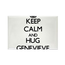 Keep Calm and HUG Genevieve Magnets
