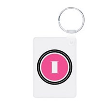 Pink Aluminum Photo Keychain