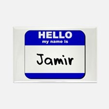 hello my name is jamir Rectangle Magnet