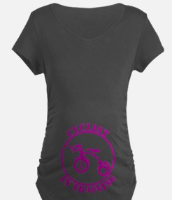 cyclistintraining_blk Maternity T-Shirt