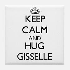 Keep Calm and HUG Gisselle Tile Coaster