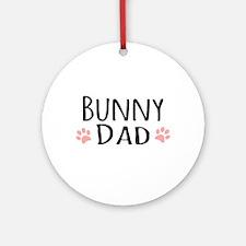 Bunny Dad Ornament (Round)