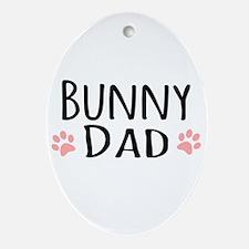 Bunny Dad Ornament (Oval)