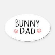 Bunny Dad Oval Car Magnet