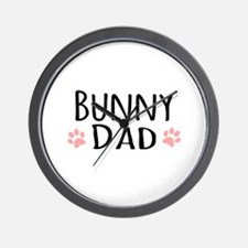 Bunny Dad Wall Clock