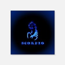 """Scorpio Zodiac Symbol Square Sticker 3"""" x 3"""""""