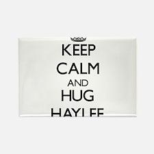 Keep Calm and HUG Haylee Magnets