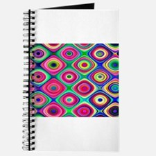 Colorful Psychedelic Round Checks Journal