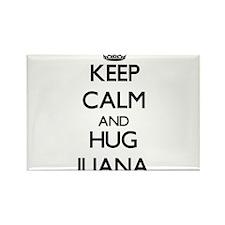 Keep Calm and HUG Iliana Magnets