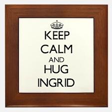 Keep Calm and HUG Ingrid Framed Tile