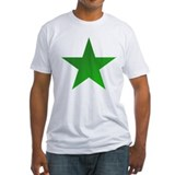 Esperanto green star Fitted Light T-Shirts