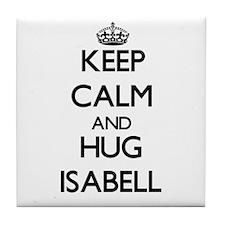 Keep Calm and HUG Isabell Tile Coaster