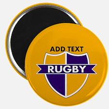 Rugby Crest Purple Gold gld Magnet