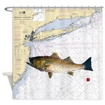 striped bass nautical shower curtain Shower Curtai