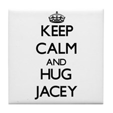 Keep Calm and HUG Jacey Tile Coaster