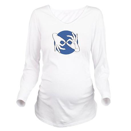SL Interpreter 01-05 Long Sleeve Maternity T-Shirt