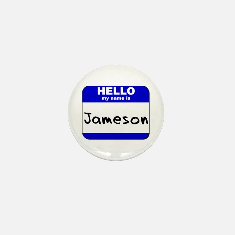 hello my name is jameson Mini Button