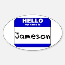 hello my name is jameson Oval Decal