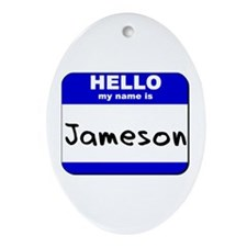 hello my name is jameson  Oval Ornament