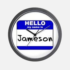 hello my name is jameson  Wall Clock