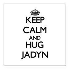 "Keep Calm and HUG Jadyn Square Car Magnet 3"" x 3"""