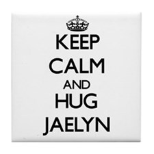Keep Calm and HUG Jaelyn Tile Coaster