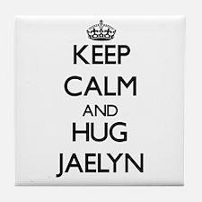 Keep Calm and HUG Jaelyn Tile Coaster