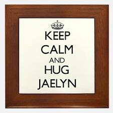 Keep Calm and HUG Jaelyn Framed Tile