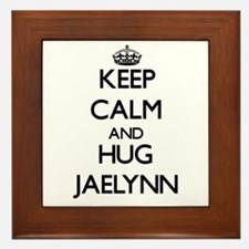 Keep Calm and HUG Jaelynn Framed Tile
