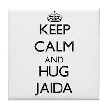 Keep Calm and HUG Jaida Tile Coaster