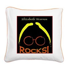 Elizabeth Warren Rocks Square Canvas Pillow