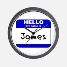 hello my name is james  Wall Clock