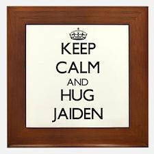 Keep Calm and HUG Jaiden Framed Tile