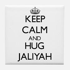 Keep Calm and HUG Jaliyah Tile Coaster