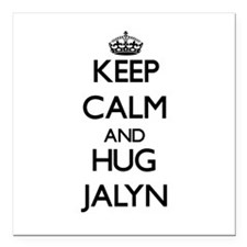 "Keep Calm and HUG Jalyn Square Car Magnet 3"" x 3"""