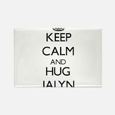 Keep Calm and HUG Jalyn Magnets
