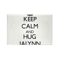 Keep Calm and HUG Jalynn Magnets
