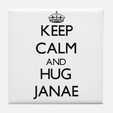 Keep Calm and HUG Janae Tile Coaster