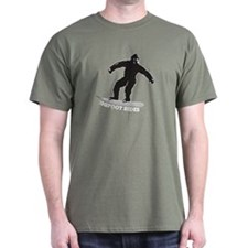 Bigfoot Rides Snowboard T-Shirt