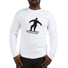Bigfoot Rides Snowboard Long Sleeve T-Shirt