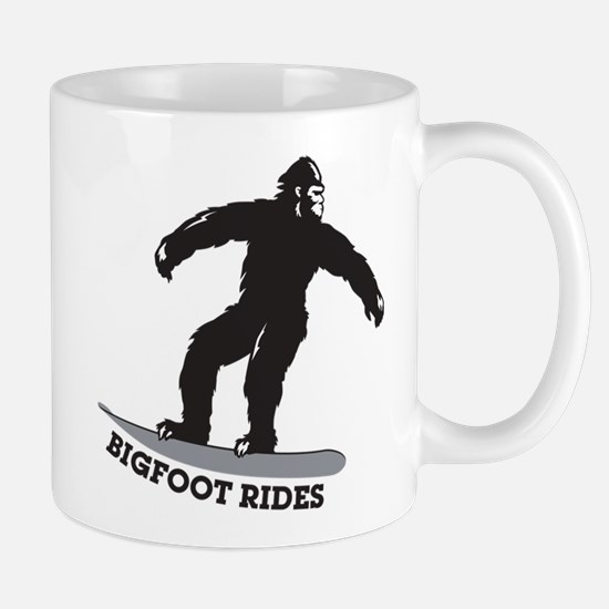 Bigfoot Rides Snowboard Mug