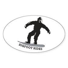 Bigfoot Rides Snowboard Decal