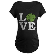 LOVE with a shamrock Maternity T-Shirt