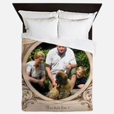 Personalizable Edwardian Photo Frame Queen Duvet