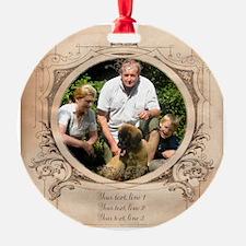 Personalizable Edwardian Photo Frame Ornament